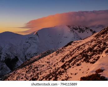 sunset in West Tatras - Slovakia - Shutterstock ID 794115889