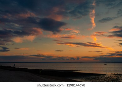 Sunset in Whitstable, Kent, England