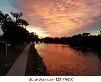 Sunset in Wichita