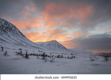 sunset, Winter, the TableLands , Gros Morne National Park, Newfoundland & Labrador