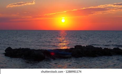 Sunset at Yalova, Turkey.