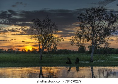 sunset at Yellow Waters, Kakadu National Park, Northern Territory, Australia