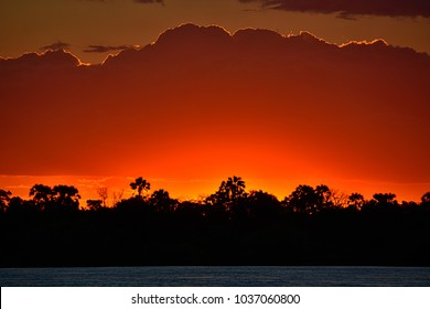 Sunset at Zambezi River
