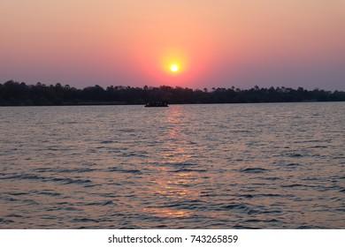Sunset at Zimbezi river