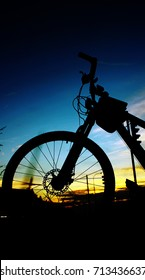sunsets and bicycles