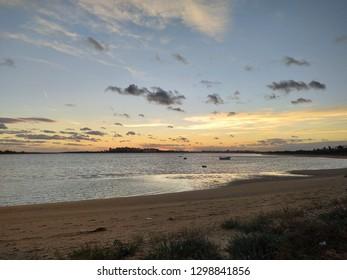 sunsets Isla Cristina Beach Huelva Spain.