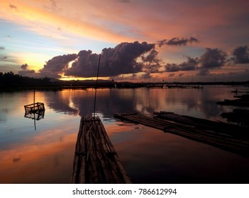 sunsets lake rowo jombor