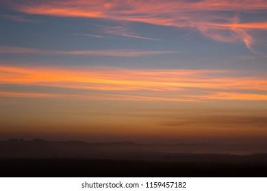 sunsets on the sea scotland united kingdom europe