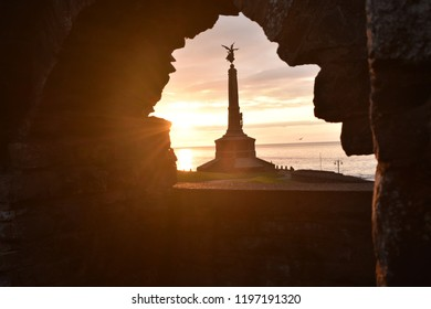 Sunsets in the town of Aberystwyth Mid wales , Ceredigion. Old university