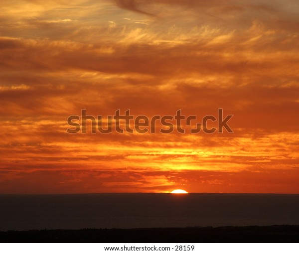 Sunsetting on the ocean