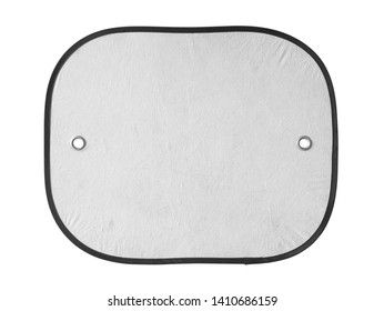Sunshade for car windshield (with clipping path) isolated on white background