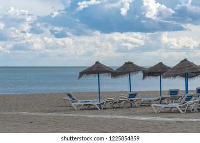 Sunshades at the beach