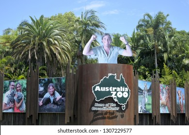 SUNSHINE COAST- JAN 25 2019:Australia zoo in Sunshine Coast Queensland, Australia.Australia Zoo won the Australian Tourism Awards for 2003Ð2004 in the category Major Tourist Attraction.