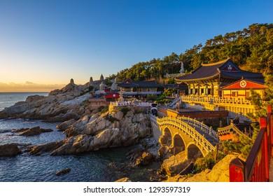 Sunshine at Headongyonggungsa Temple in Busan South Korea