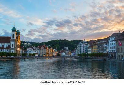sunshine at Lausanne lake Switzerland