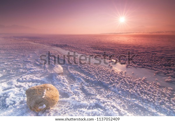 Sunshine over the water reservoir of Liptovska Mara, Slovakia.