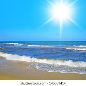 Sunshine Scene Paradise Wallpaper