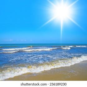 Sunshine Scene Sands of White