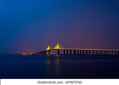 Sunshine Skyway Bridge at Dusk