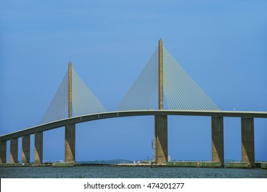 The Sunshine Skyway Bridge over Tampa Bay, Florida was opened to traffic on April 20, 1987.