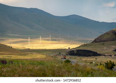 Sunspot in the armenian mountains