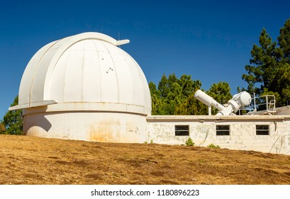 SUNSPOT, NEW MEXICO,  USA - June 2, 2018.  Sun Spot Observatory on Sacramento Peak is home to the Hilltop Dome completed in 1963.