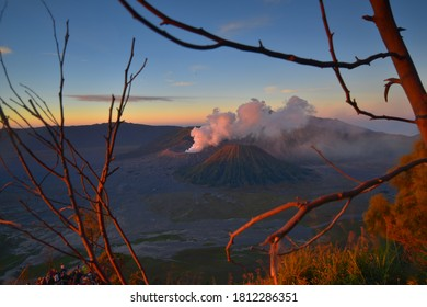 Sunsrise VIew In mount Bromo east java Indonesia