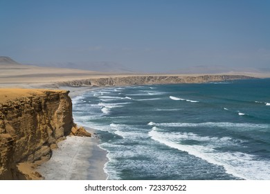 Supay Beach in Paracas National Reserve, Peru. Main purpose of the Reserve is to protect marine ecosystem and historical cultural heritage.