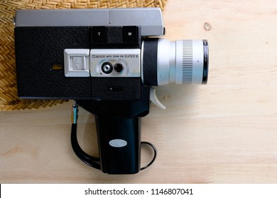 Super 8mm Movie Camera form Dad's collection. Bangkok, Thailand. August 1st, 2018.