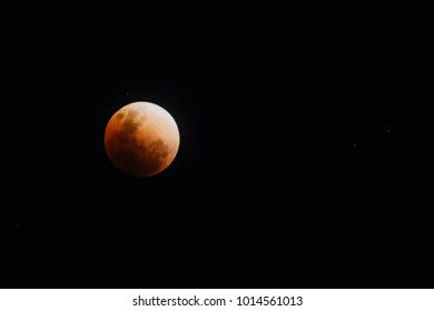 The Super blood blue moon. The total lunar eclipse of January 31, 2018 as seen in the Philippines turned the moon into a bloody red heavenly spectacle.