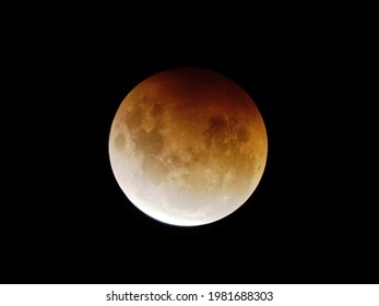 Super Blood Moon, during a Total Lunar Eclipse, photographed from Palmerston North, New Zealand on May 26, 2021