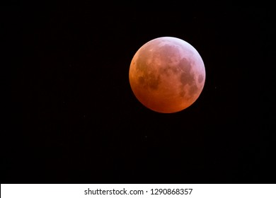 Super blood wolf moon at january 21th 2019 (the Netherlands)