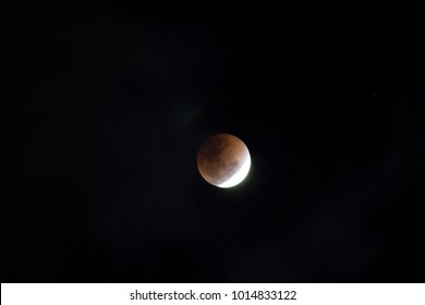 Super Blue Blood Moon on 31 January 2018 in Thailand (super moon, blue moon and total lunar eclipse) coincide