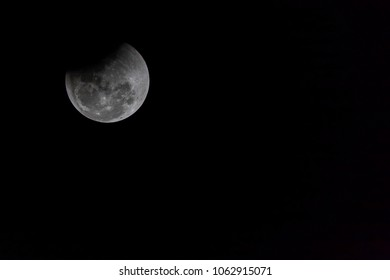 Super Blue Blood Moon , A total lunar eclipse occurred on January 31, 2018
