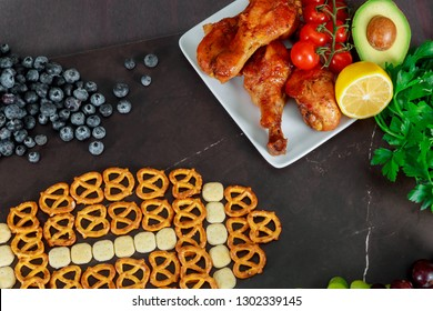 Super Bowl day snacks for watching a football game a football watching party