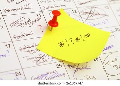 Super Busy Calendar stress
