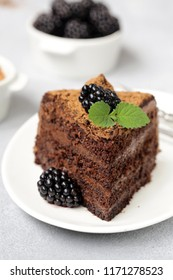 super chocolate truffle cake with black raspberries