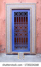 Super colorful old historical door in Morocco