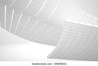 Super cool abstract architectural white background