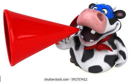 Super cow - 3D Illustration