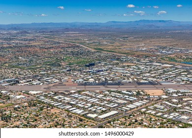 Super exciting North Scottsdale, Arizona aerial view with airport, entertainment, hotels, restaurants, golf and travel destinations all within minutes of each other.