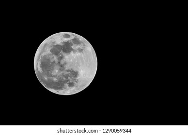 The super full blood wolf moon, January 20th 2019-Shot in Kentucky. Nature photography, black and white photo