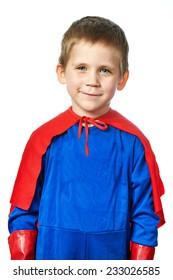 Super Hero Boy isolated on white background
