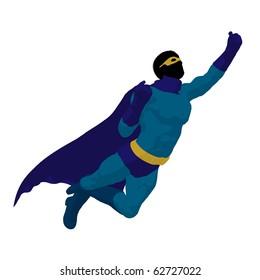 Super hero silhouette on a white background