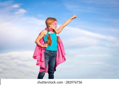 super hero or superhero  girl power concept
