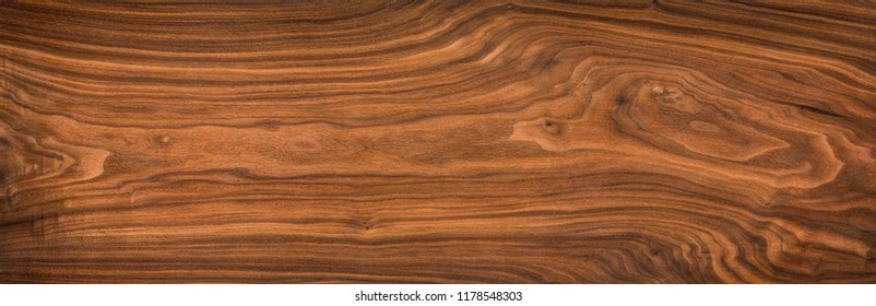 Super long walnut planks texture background.Walnut wood texture.