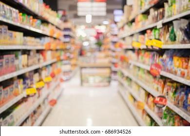 Super market background blur