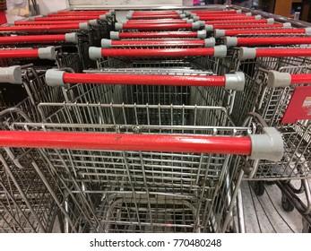 Super Market Cart row for customer shopping.