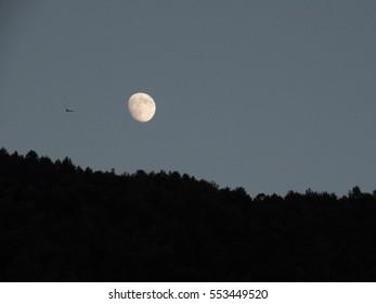 Super moon in 2016 in Zaragoza Spain
