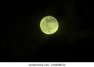 super moon above Hoogeveen, the Netherlands